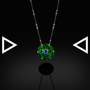The Hollyhock Necklace