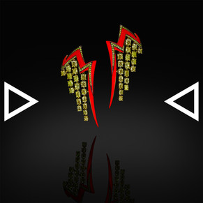 The Red Thunder with Golden Rain Earrings