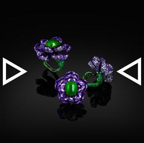 The Purple Lisianthus Ring