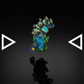The Flower From The Phosphorus' Flame Brooch and Pendant