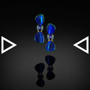 The Grey-Blue Abstract Earrings