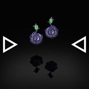 The Blue Lichen earrings