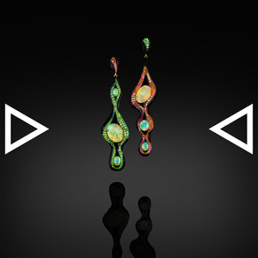 The Galaxy of Hiranyagarbha Earrings