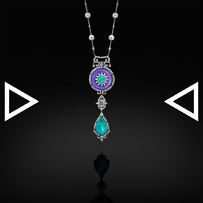 The Neon-Blue Classic Necklace