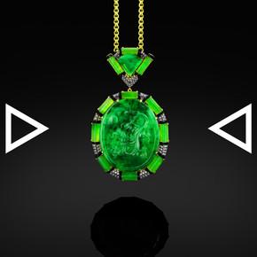 The Dragon's Green Myth Pendant