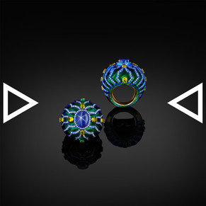 The Greenish-blue Baroque Wool Ring