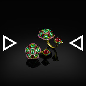 The Watermelon Blossom Ring