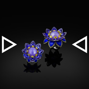 《The Blue Lotus Chants Ring》 and yellow diamond and tanza