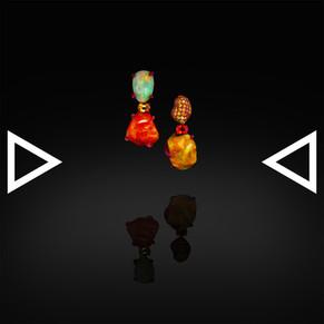 The Opalized Firefruit Earrings