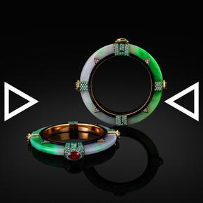 The Jade Compass Bangle