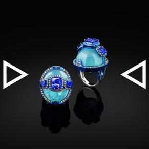 The Aqua Reflection Ring