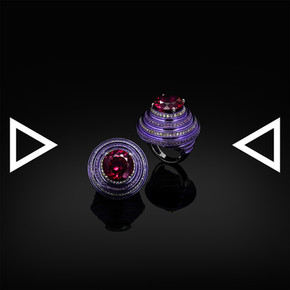 The Chakra of Violet Arc Ring