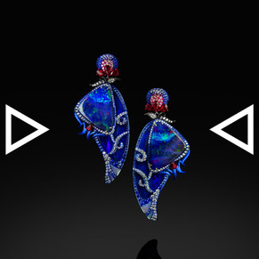 The Papilio ulysses Earrings