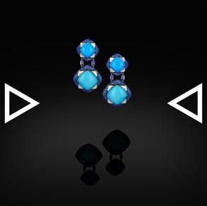 The Sky-Blue Lilac Earrings