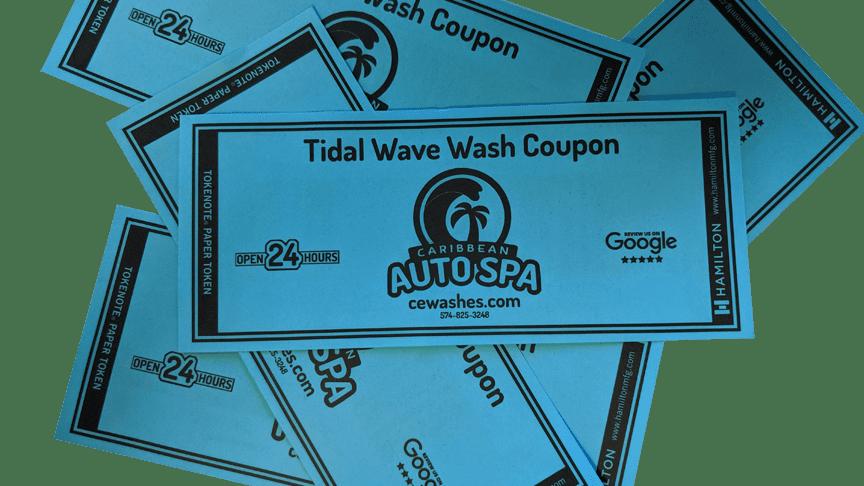 Tidal Wave Wash Coupons ($12 Wash)