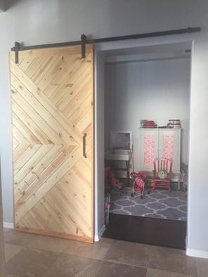 custom sliding door artfxwoodworks