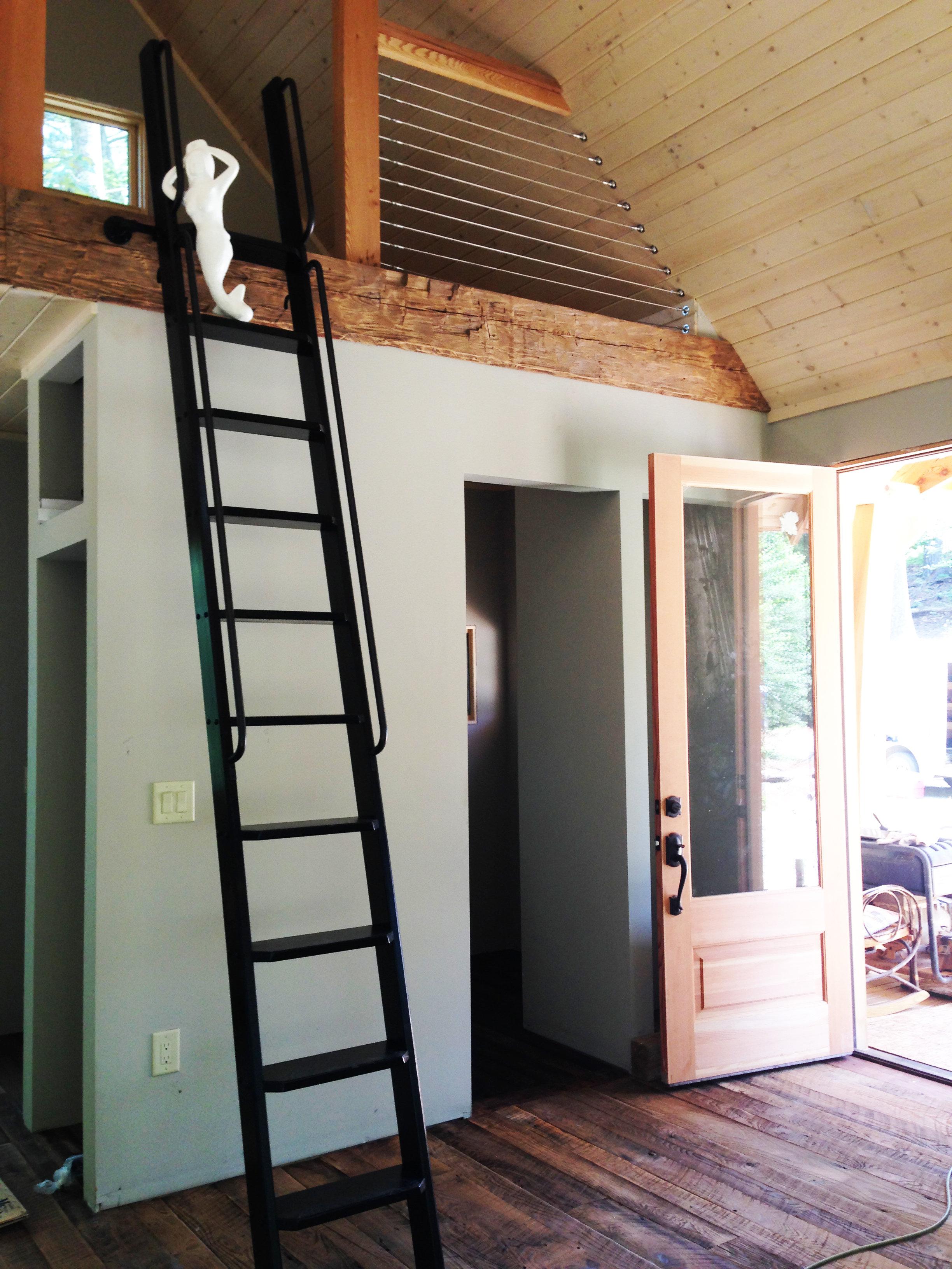 Loft Ladder Library Ladder Wood Custom Ladder Customized