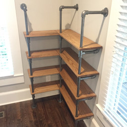 pipe shelving unit