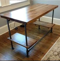 Office desk reclaimed wood