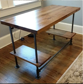 Office desk reclaimed wood