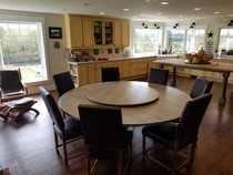 Round Dining Table Handcrafted