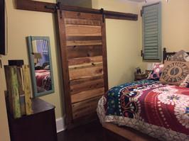 sliding barn door reclaimed wood