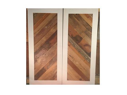sliding barn door by artfxwoodworks Reclaimed wood chevron design