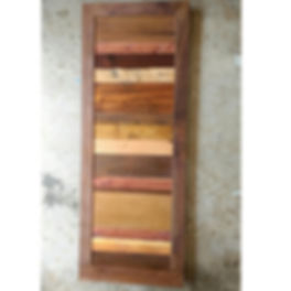 sliding barn door reclaimed wood walnut frame artfxwoodworks.JPG
