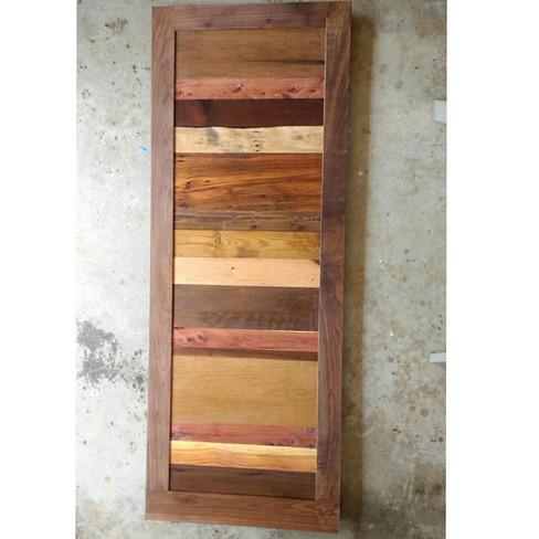 reclaimed wood door