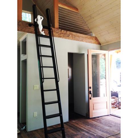 Wooden ladder loft ladder by Artfxwoodworks painted handmade wood ladders