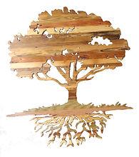 Tree Carving Reclaimed Wood Art