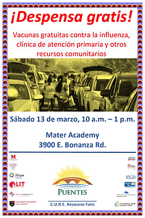 3-13-2021 Resource Fair Poster, Spanish.