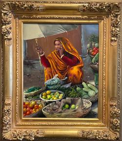 Robinson Lady Street Vendor 20x16 1300