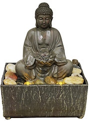 Buddha with Lotus Water Fountain