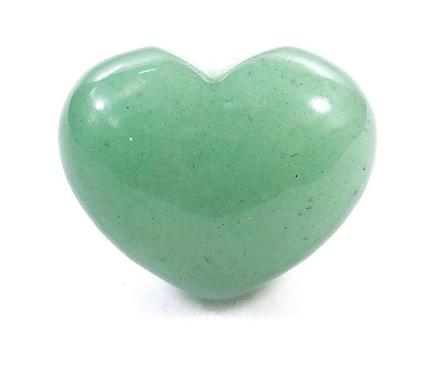 Small Gemstone Heart - Green Aventurine