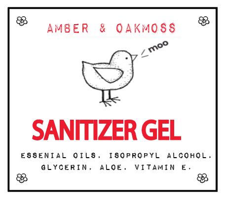 Amber & Oakmoss Sanitizer Gel