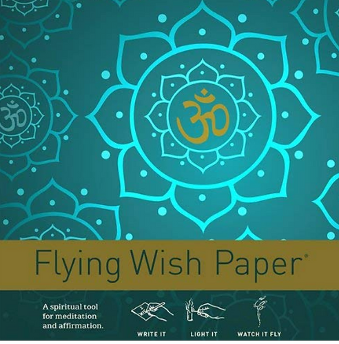Flying Wish Paper Golden Om (Small)