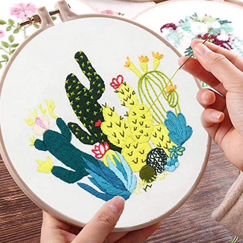 Cacti Embroidery Starter Kit