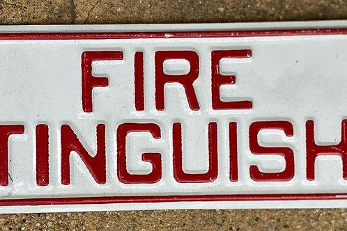 Fire Extinguisher Metal Sign