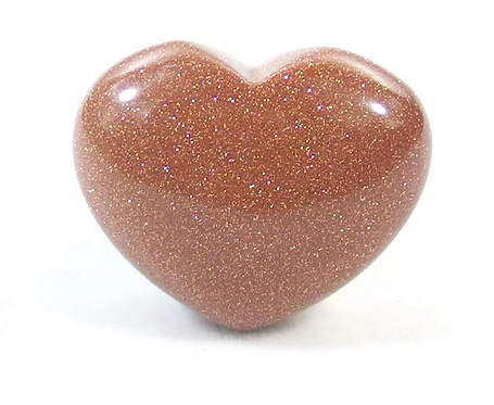 Small Gemstone Heart -Red Goldstone