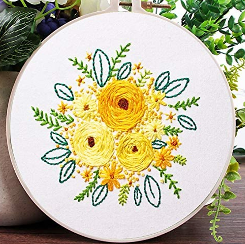 Yellow Bouquet Embroidery Starter Kit
