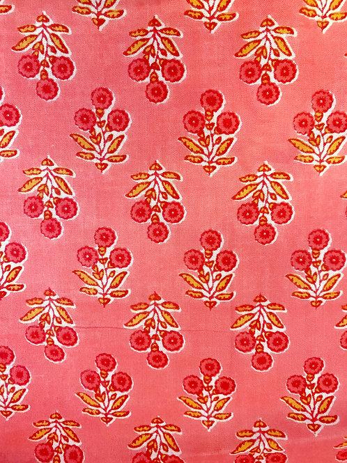 Pink Hand Block Print Napkins- Set of 4