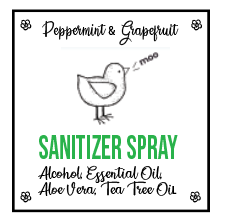 Peppermint & Grapefruit Sanitizer Spray