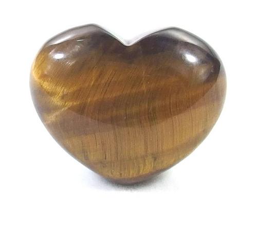 Small Gemstone Heart - Tiger Eye Stone