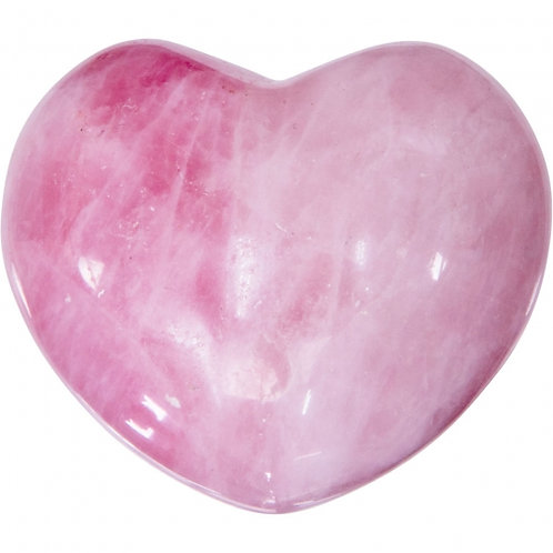 Medium Gemstone Heart - Rose Qtz