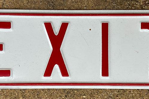 Exit Grass Metal Sign