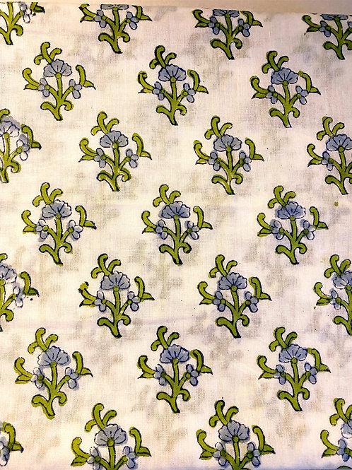 Blue Green Hand Blocked Soft Cloth Napkins- Set of 4