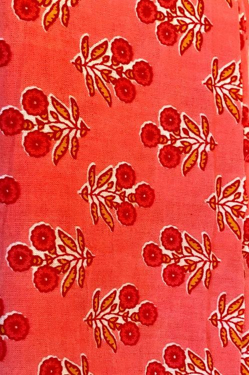 Hot Pink Soft Hand Block Print Napkins- Set of 4