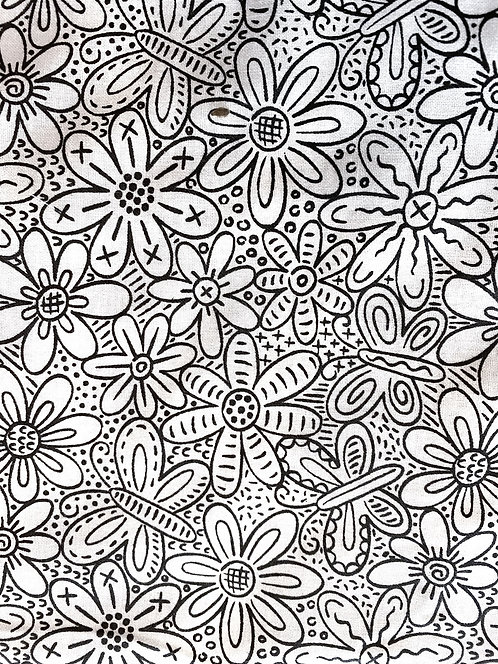 Flower Coloring Mask including Markers