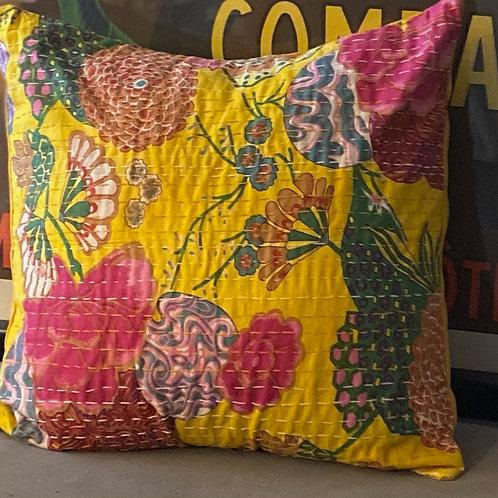 Boho Pillow -Yellow
